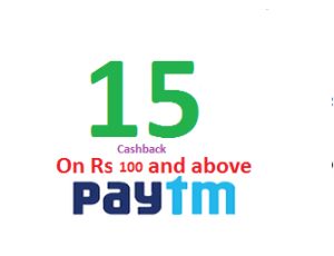 Paytm Rs  cashback on Rs