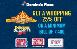 dominos  percent off