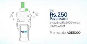 Paytm get Rs  cashback on adding Rs  to wallet