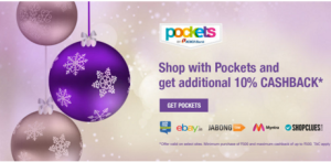 pockets get  cashback on shop