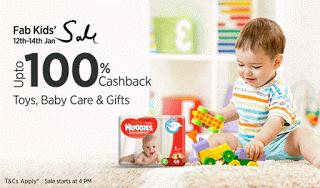 Fab kids sale  percent cashback offer