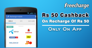 Peopleskart Loot Get  cashback on recharge of Rs  at Freecharge loot