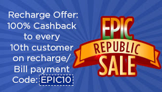 mobikwik epic offer  cb on recharges and bill payments