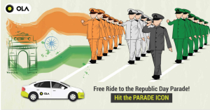 olacabs republic day offer free ride to parade ground delhi free