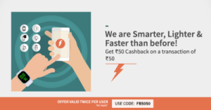 Freecharge Get Rs  cb on Rs  Account Specific