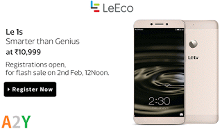LeEco st smartphone flash sale on flipkart