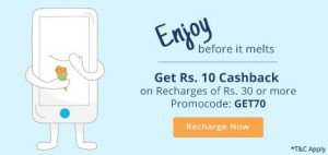Paytm Rs  cashback on Rs  only