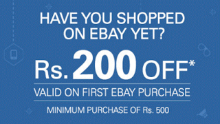 ebay rs off on orders of rs new users