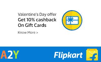 flipkart valentines day offer  cashback on gift cards