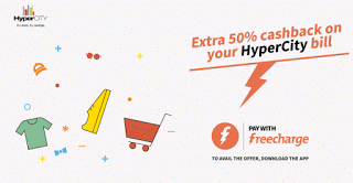 freecharge extra cb on hypercity bill payment