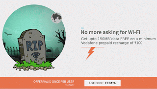 freecharge get  mb data free for vodafone FCDATA offer