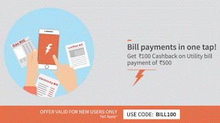 freecharge rs cashback on utility bill payments bill