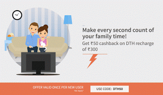 freecharge rs cashback on dth recharge of rs or more new users
