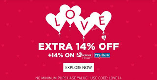 jabong loot valentines offer  off