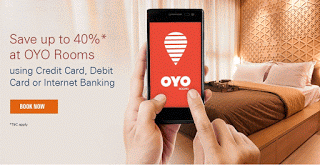 oyo rooms icici bank offer upto  cashback