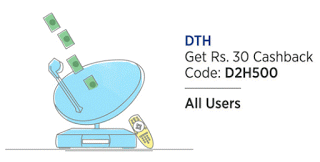 paytm rs cashback on dth recharges dh offer