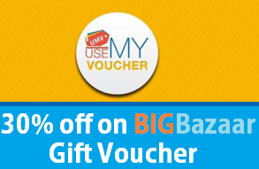 usemyvoucher app loot offer big bazaar  off gift vouchers