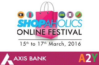 Axis bank Shopaholics online festival