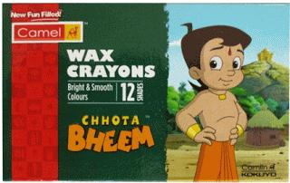 Camlin Chhota bheem wax cryons  shades at rs only