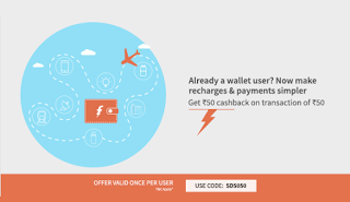 Freecharge  cashback loot offer SD