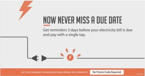 Freecharge Get  cb on Electricity bill payments all users