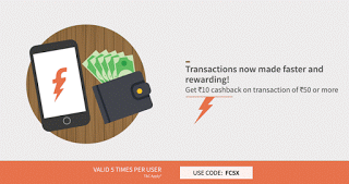 Freecharge rs cashback upto  times FCX loot