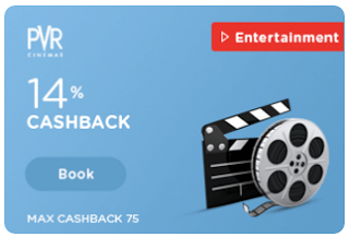 PVR Cinema  cashback offer