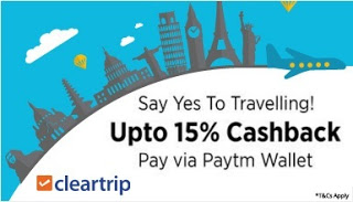 cleartrip paytm cashback  offer