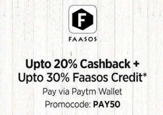 faasos app paytm wallet offer