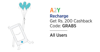 paytm GRAB  cashback on recharges
