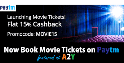 paytm movie tickets movies cashback offer
