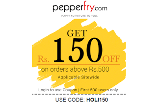 pepperfry rs off on rs HOLI offer