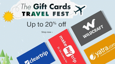 Amazon travel gift cards at  off this summer