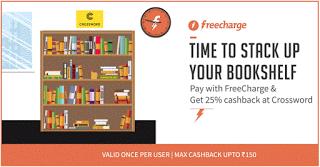 Crossword  cashback via freecharge