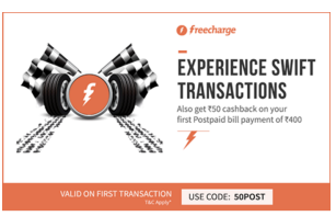 Freecharge rs cashback on bill payment of rs