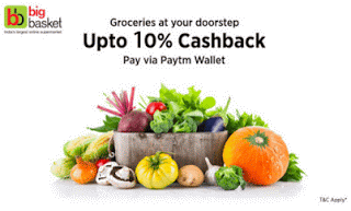 big basket paytm offer  cashback