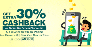 crownit app get  cashback on recharges and bill payments