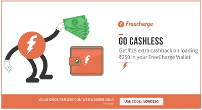 freecharge add rs get rs cashback LOAD