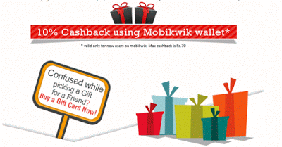 giftscombo mobikwik  cashback offer