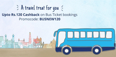 paytm  cashback on bus BUSNEW loot offer