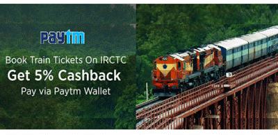 paytm irctc paytm  cashback on recharges