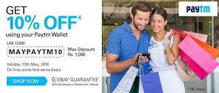 Ebay Get flat  off on paying via Paytm wallet All loot offer