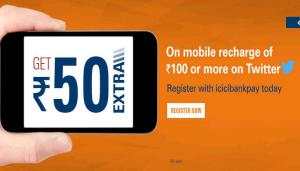 ICICI Register on icicibankpay on Rs