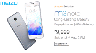 amazon meizu m note smartphone at rs