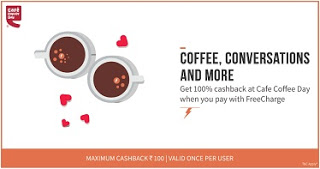 cafe cofiee day freechargeoffer loot freecharge
