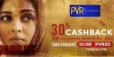 crownit pvr gift vouchers  cashback offer pvr
