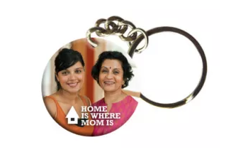 excitinglives home is where mom is keychain