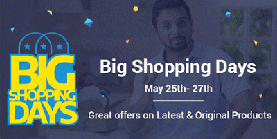flipkart big app shopping days th th may