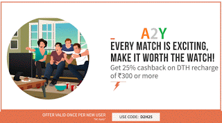 freecharge  cashback dth recharges new users DH