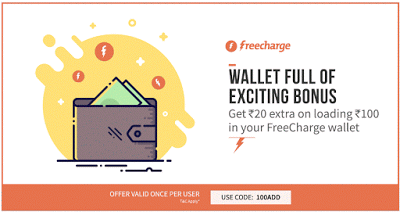 freecharge add offer rs cashback on adding rs